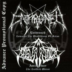 Enthroned: Towards The Skullthrone Of Satan / The Trollish Mirror - Cover