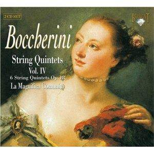 Luigi Boccherini: String Quintets Vol. IV (Op. 18) - Cover