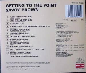 Savoy Brown: Getting To The Point (CD) - Bild 2