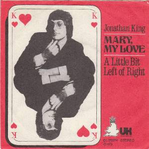 Jonathan King: Mary, My Love - Cover