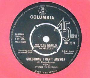 Cover - Heinz: Questions I Can't Answer