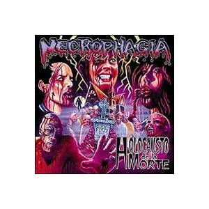 Necrophagia: Holocausto De La Morte / Black Blood Vomitorium - Cover