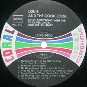 Louis Armstrong: Louis And The Good Book (LP) - Bild 3