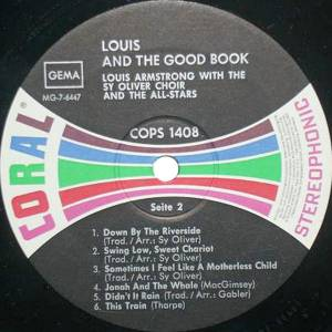 Louis Armstrong: Louis And The Good Book (LP) - Bild 4