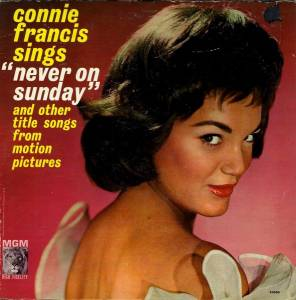 "Cover - Connie Francis: Sings ""Never On Sunday"" And Other Title Songs From Motion Pictures"