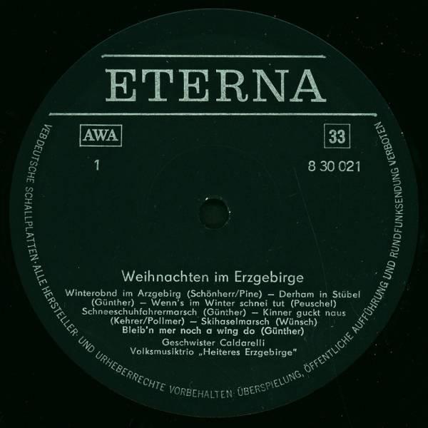Erzgebirgische Weihnachtslieder.Weihnachten Im Erzgebirge Lp 1980 Re Release