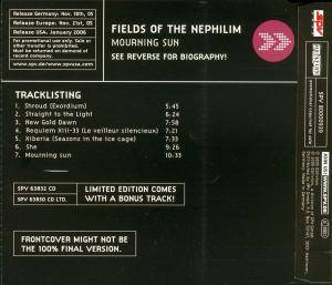 Fields Of The Nephilim: Mourning Sun (Promo-CD) - Bild 2