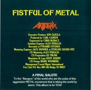 Anthrax: Fistful Of Metal / Armed And Dangerous (2-CD) - Bild 5