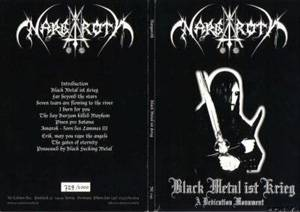 Nargaroth: Black Metal Ist Krieg (A Dedication Monument) - Cover
