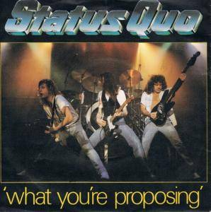 Status Quo: What You're Proposing - Cover