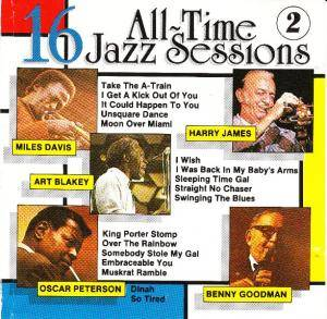 16 All-Time Jazz Sessions 2 - Cover