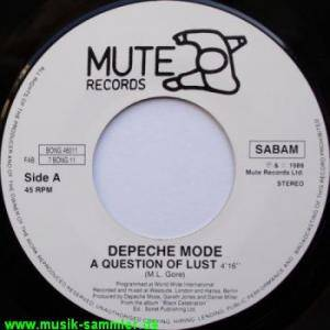 "Depeche Mode: A Question Of Lust (7"") - Bild 1"