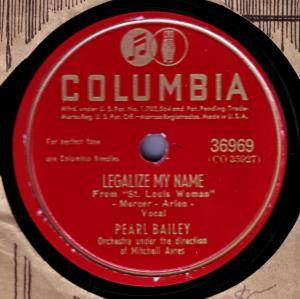 Cover - Pearl Bailey: Legalize My Name