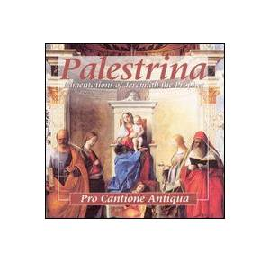 Cover - Giovanni Pierluigi da Palestrina: Lamentations Of Jeremiah The Prophet Book Four, 5 & 6 Voices