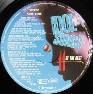 Billy Idol: Idol Songs - 11 Of The Best (LP) - Bild 5