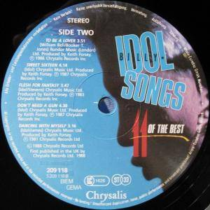 Billy Idol: Idol Songs - 11 Of The Best (LP) - Bild 6