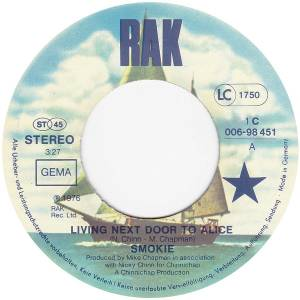 "Smokie: Living Next Door To Alice (7"") - Bild 3"