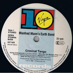 Manfred Mann's Earth Band: Criminal Tango (LP) - Bild 3