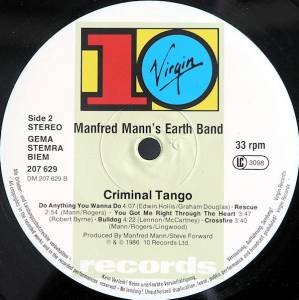 Manfred Mann's Earth Band: Criminal Tango (LP) - Bild 4