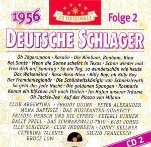Cover - Caterina Valente, Silvio Francesco, Peter Alexander: Deutsche Schlager - 1956 - CD 2