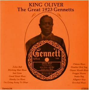 Cover - King Oliver: Great 1923 Gennetts, The