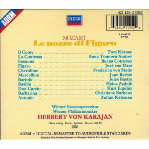 Le Nozze di Figaro KV 492 | 3-CD (1988, Pappschuber, Re-Release,  Remastered) von Wolfgang Amadeus Mozart