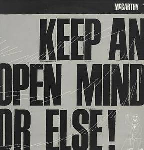 Cover - McCarthy: Keep An Open Mind Or Else