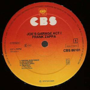 Frank Zappa: Joe's Garage Act I (LP) - Bild 3
