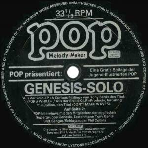 Cover - Brand X: Pop Nr. 21 / 22 1979 Beilage - Genesis-Solo