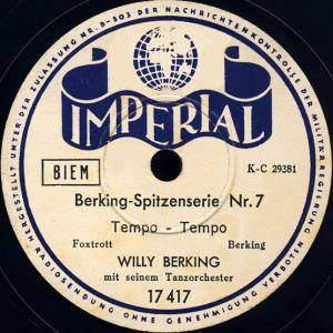 Cover - Willy Berking: Berking-Spitzenserie Nr.7