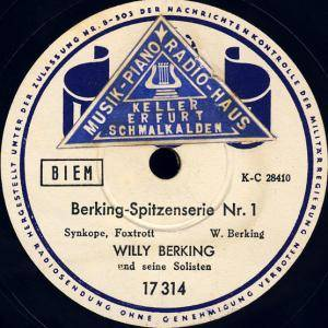 Cover - Willy Berking: Berking-Spitzenserie Nr.1