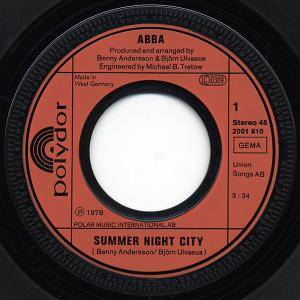"ABBA: Summer Night City (7"") - Bild 2"
