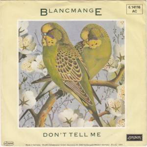 Blancmange: Don't Tell Me - Cover