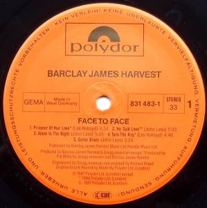 Barclay James Harvest: Face To Face (LP) - Bild 3