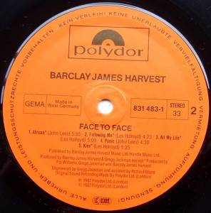 Barclay James Harvest: Face To Face (LP) - Bild 4