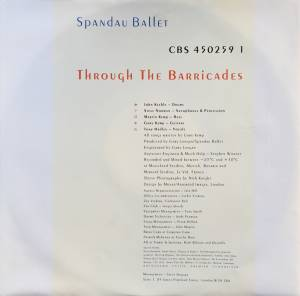 Spandau Ballet: Through The Barricades (LP) - Bild 3