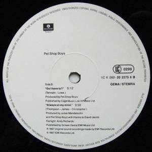 "Pet Shop Boys: Always On My Mind (12"") - Bild 4"