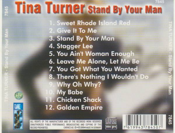 Tina Turner Stand By Your Man Cd 2004 Best Of Compilation