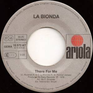 "La Bionda: One For You, One For Me (7"") - Bild 4"