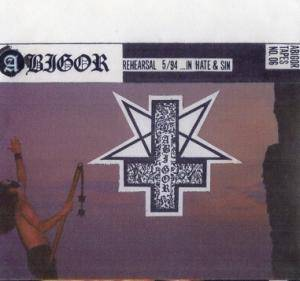 Cover - Abigor: ...In Hate & Sin Rehearsal 5/94
