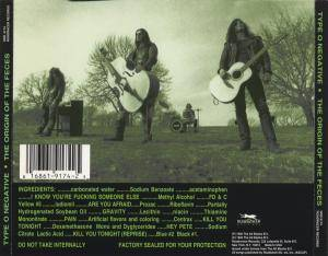 Type O Negative: The Origin Of The Feces (Not Live At Brighton Beach) (CD) - Bild 2