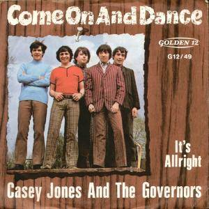 Cover - Casey Jones & The Governors: Come On And Dance