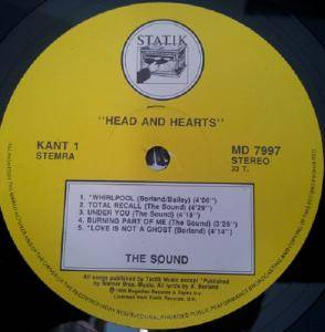 The Sound: Heads And Hearts (LP) - Bild 2