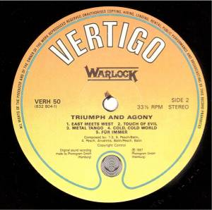 Warlock: Triumph And Agony (LP) - Bild 6