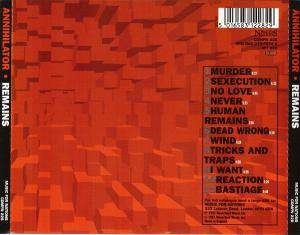 Annihilator: Remains (CD) - Bild 2