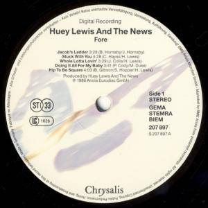 Huey Lewis & The News: Fore! (LP) - Bild 3