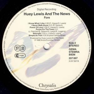 Huey Lewis & The News: Fore! (LP) - Bild 4