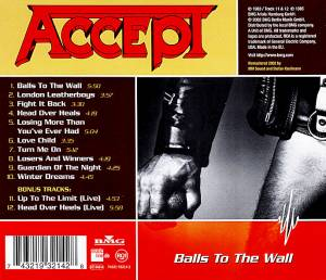 Accept: Balls To The Wall (CD) - Bild 2