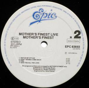 Mother's Finest: Live (LP) - Bild 6