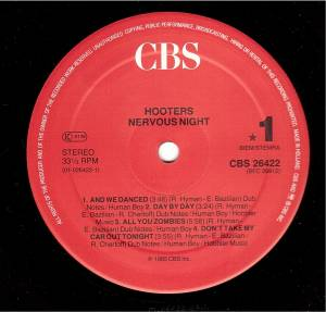 The Hooters: Nervous Night (LP) - Bild 5